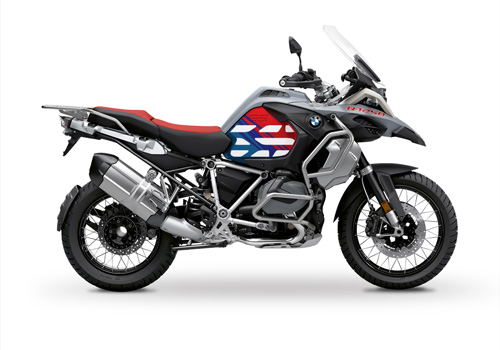 BSTI 3408 BMW R1250GS Adventure Ice Grey Anniversary Limited Edition Tank Stickers Msport 01