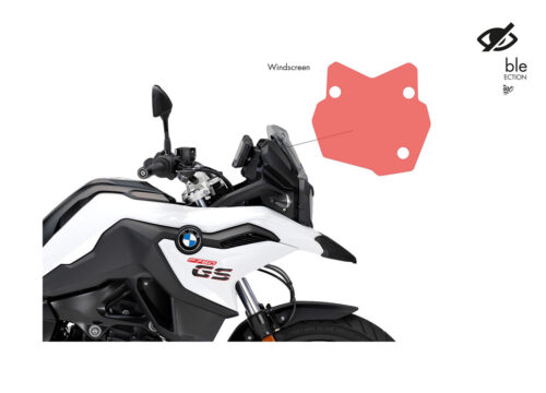 SIG 1030 02 BMW F750GS WindScreen Protective Film 02