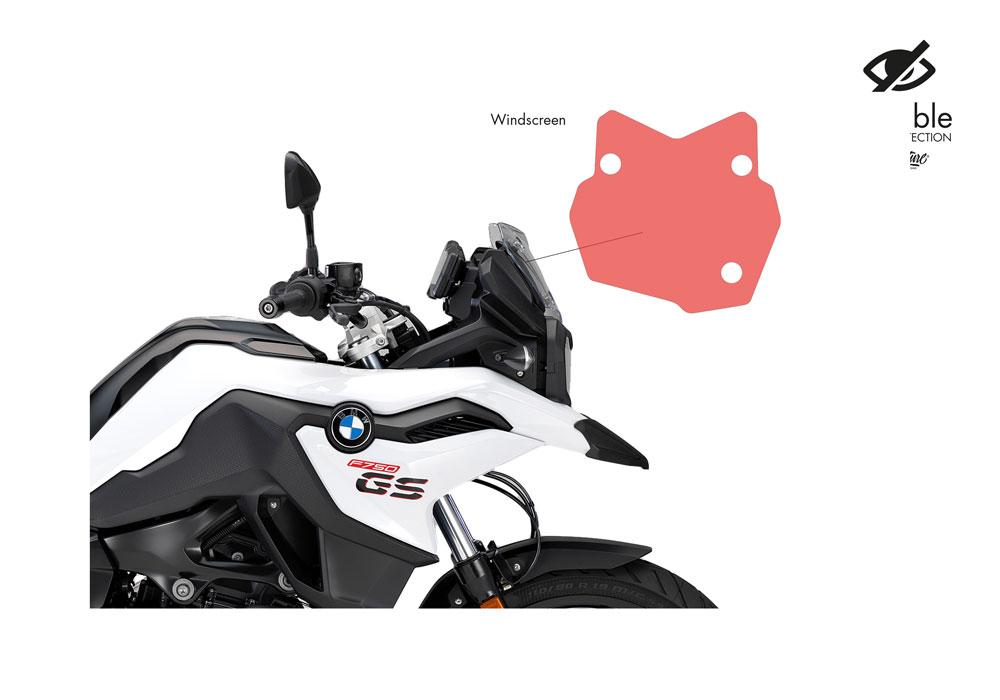SIG 1030 02 BMW F750GS WindScreen Protective Film 02