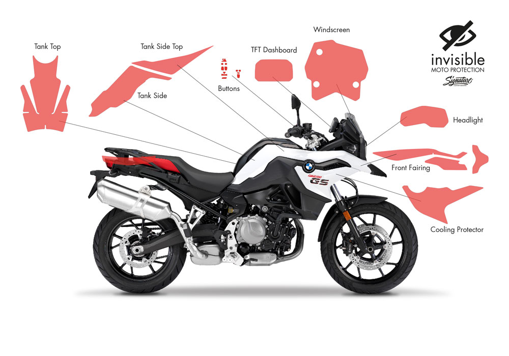 SIG 1032 02 BMW F750GS Ultimate Package Protective Films