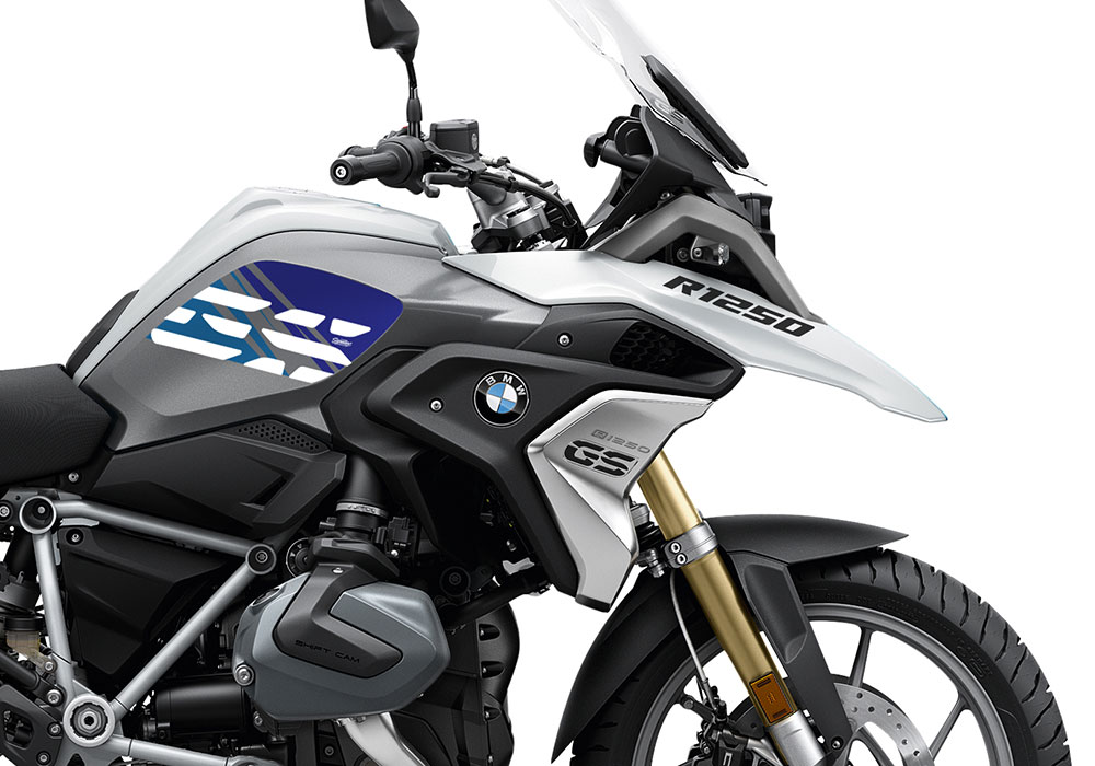 SIG 1043 02 BMW R1250GS Light White Anniversary Blue Tank Stickers 02 1