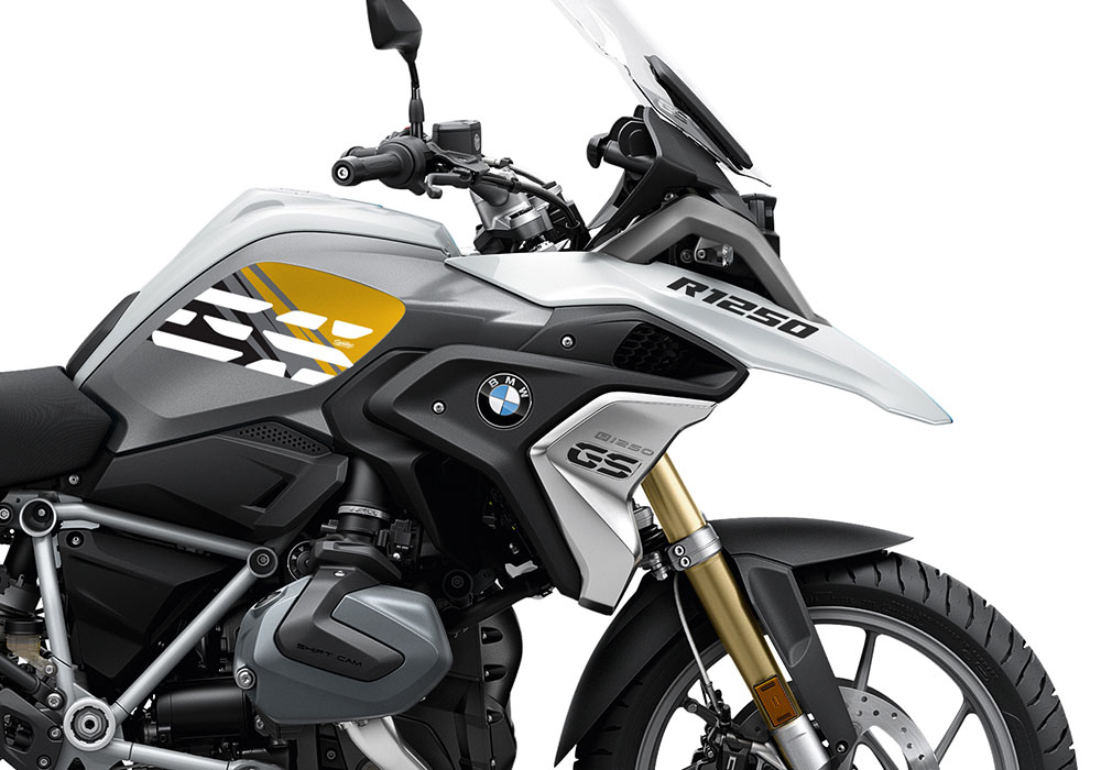 SIG 1044 02 BMW R1250GS Light White Anniversary Yellow Tank Stickers 02 1