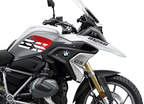 SIG 1045 02 BMW R1250GS Light White Anniversary Red Tank Stickers 02 1