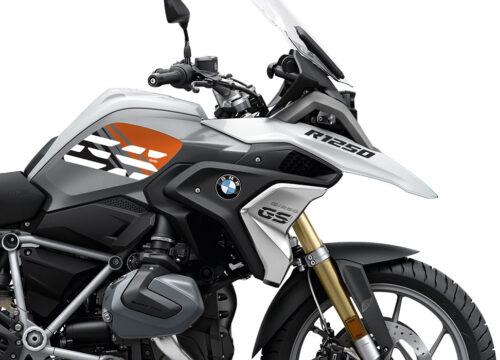 SIG 1046 02 BMW R1250GS Light White Anniversary Orange Tank Stickers 02 1