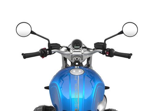 SIG 1057 03 BMW RnineT Scrambler Silver Lines COSMIC BLUE Metallic