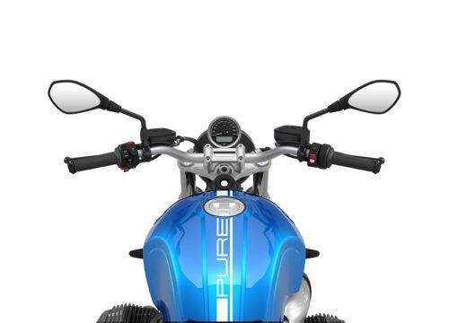 SIG 1058 02 BMW RnineT Pure White Lines COSMIC BLUE Metalic