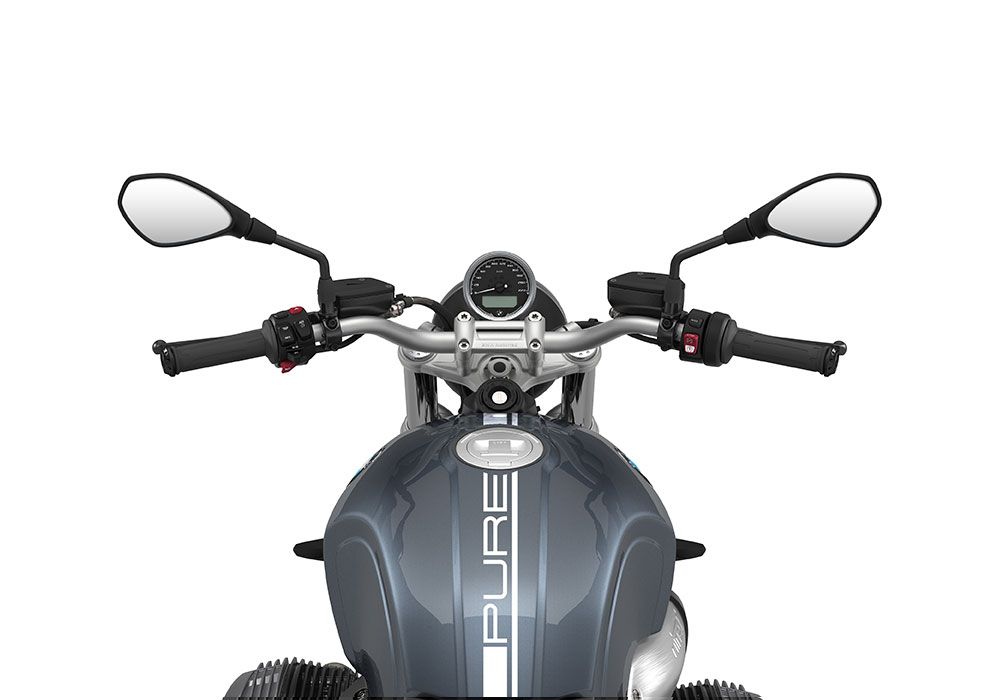 SIG 1058 02 BMW RnineT Pure White Lines Mineral Grey Metallic