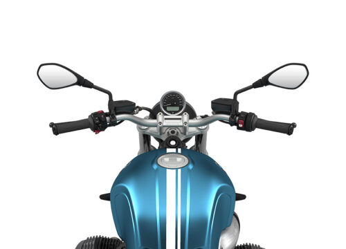 SIG 1066 02 BMW RnineT Pure White Double Lines Teal