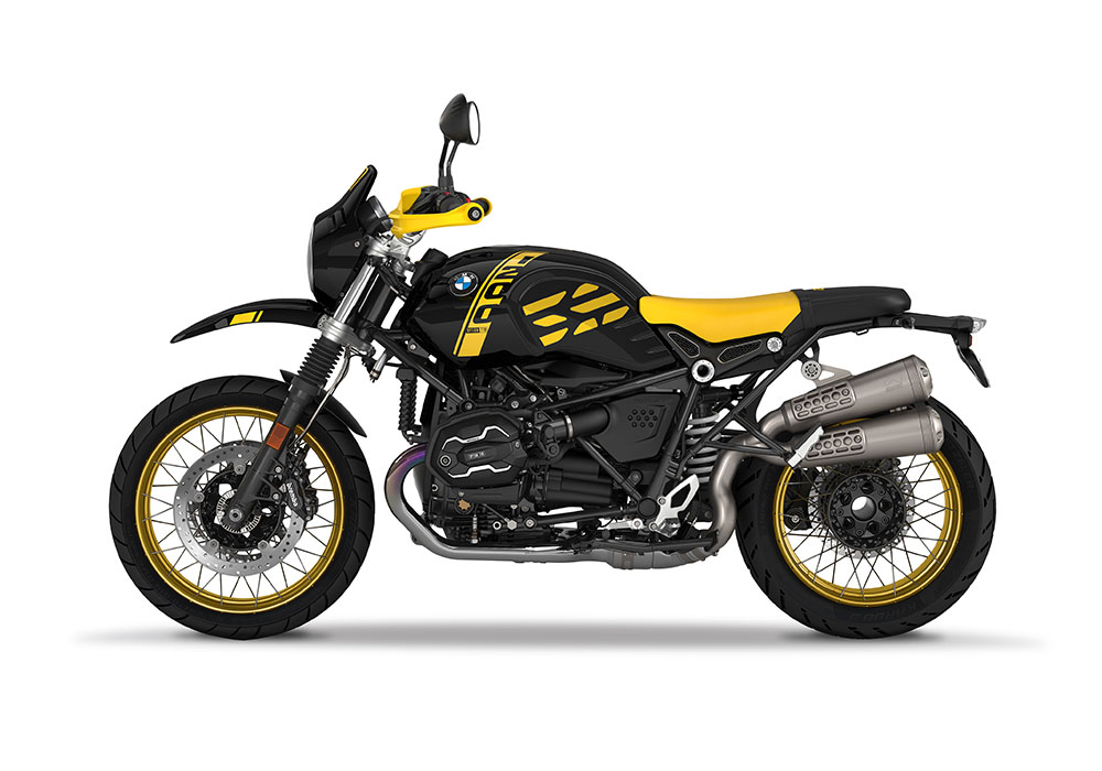 SIG 1089 01 BMW RnineT Urban GS Yellow GS Line 40 years left