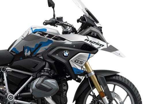 SIG 1108 02 BMW R1250GS Light White Safari R12 Blue Stickers Kit 02