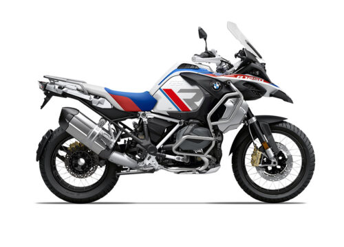 SIG 1120 02 BMW R1250GS Adv R LINE Grey Red Blue Stickers Style Rally Right