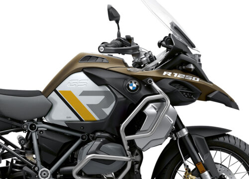 SIG 1123 02 BMW R1250GS Adv R LINE Grey Yellow Black Stickers Style Exclusive silver Tank Right 2