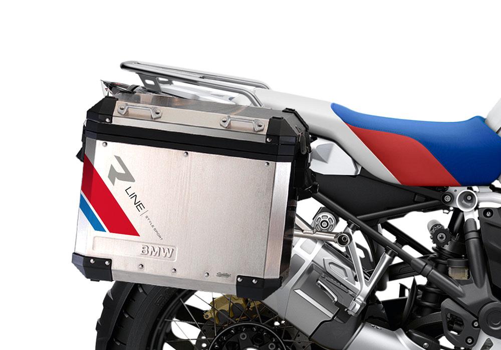 SIG 1130 BMW Aluminum Panniers R Line Grey Red Blue 02