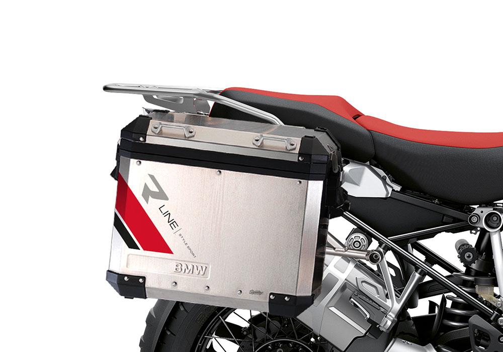 SIG 1131 BMW Aluminum Panniers R Line Grey Red Black 02
