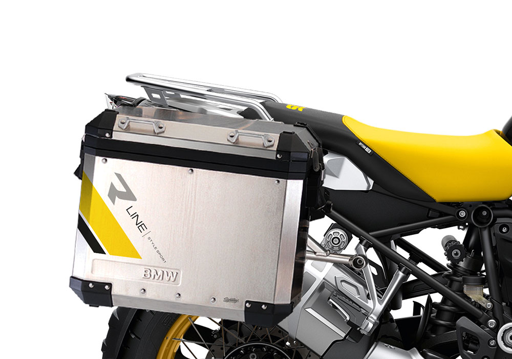 SIG 1133 BMW Aluminum Panniers R Line Grey Yellow Black 02