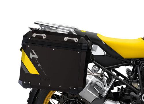 SIG 1136 BMW Aluminum Panniers Black R Line Grey Yellow 02