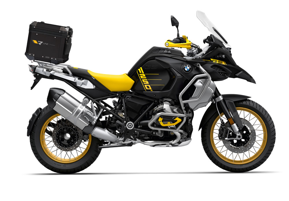 SIG 1143 BMW Aluminum Top Box Black R Line Grey Yellow top