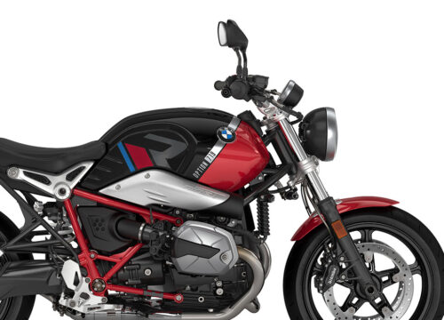 SIG 1124 02 BMW RnineT Pure R LINE Grey Red Blue Grey Stickers Black Storm Metallic Racing Red Right 02