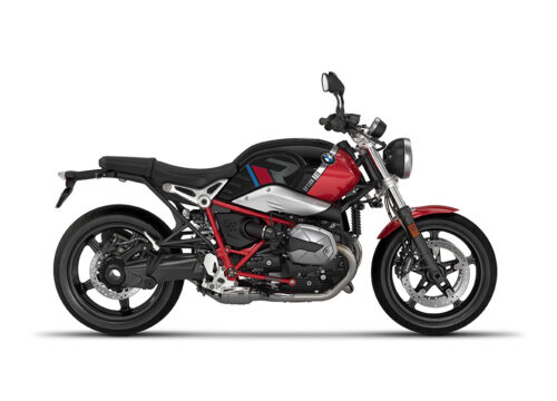 SIG 1124 02 BMW RnineT Pure R LINE Grey Red Blue Grey Stickers Black Storm Metallic Racing Red Right