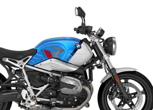 SIG 1124 02 BMW RnineT Pure R LINE Grey Red Blue Grey Stickers Cosmic blue Metallic Right 02