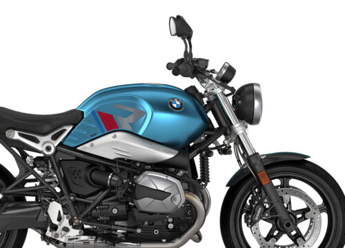 SIG 1124 02 BMW RnineT Pure R LINE Grey Red Blue Grey Stickers Teal Blue Metallic Matte Right 02