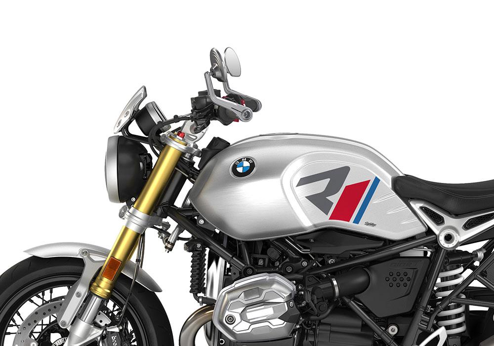 SIG 1124 04 BMW RnineT R LINE Grey Red Blue Grey Stickers Option 719 Aluminium Left 02
