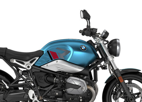 SIG 1125 02 BMW RnineT Pure R LINE Grey Red Black Stickers Teal Blue Metallic Matte Right 02