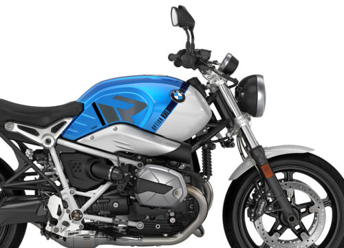 SIG 1126 02 BMW RnineT Pure R LINE Black Grey Variations Stickers Cosmic blue Metallic Right 02