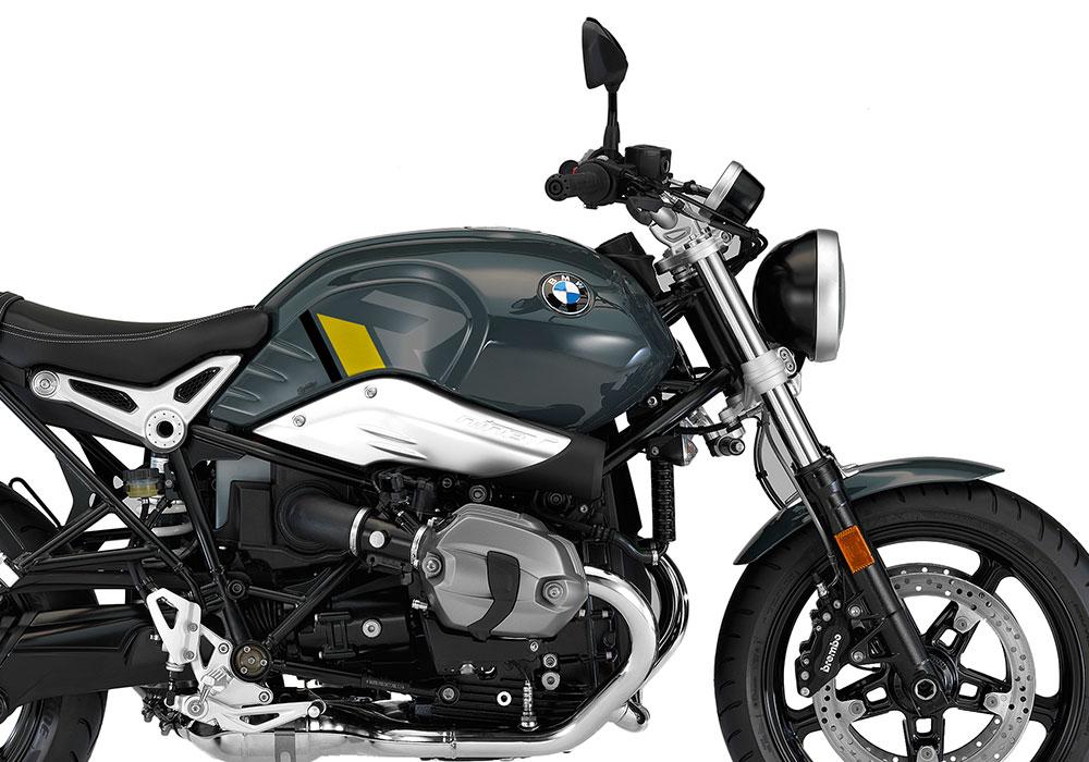 SIG 1127 02 BMW RnineT Pure R LINE Grey Yellow Black Stickers Catalanograu right 02