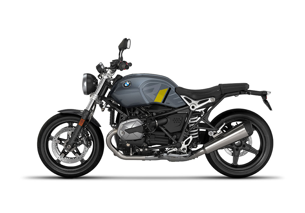 SIG 1127 02 BMW RnineT Pure R LINE Grey Yellow Black Stickers Mineral Grey Left