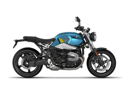 SIG 1127 02 BMW RnineT Pure R LINE Grey Yellow Black Stickers Teal Blue Metallic Matte Right