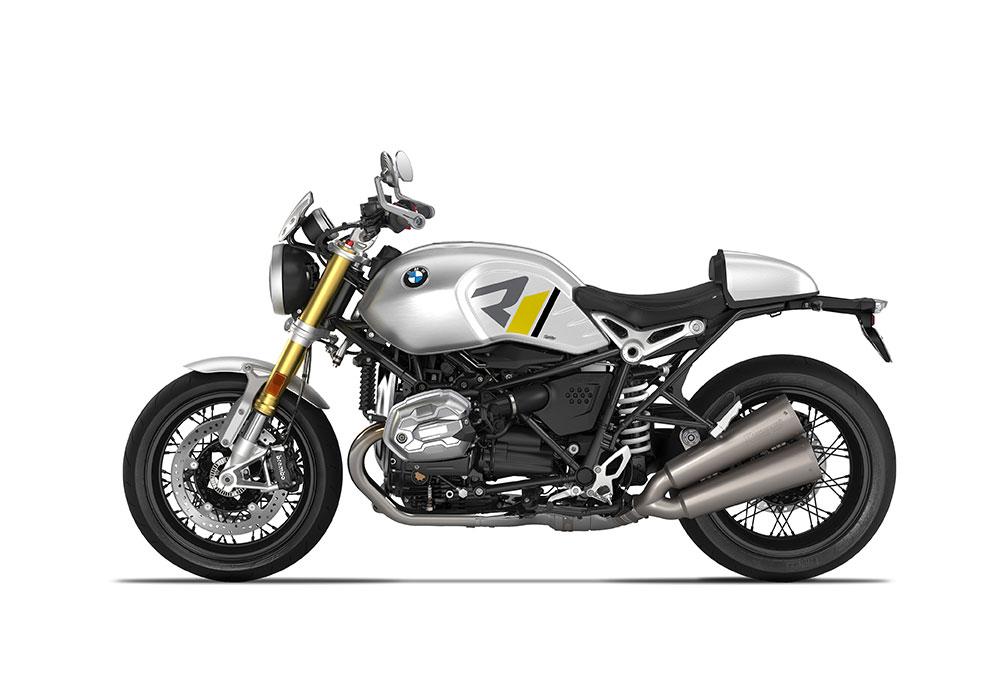 SIG 1127 04 BMW RnineT R LINE Grey Yellow Black Grey Stickers Option 719 Aluminium Left