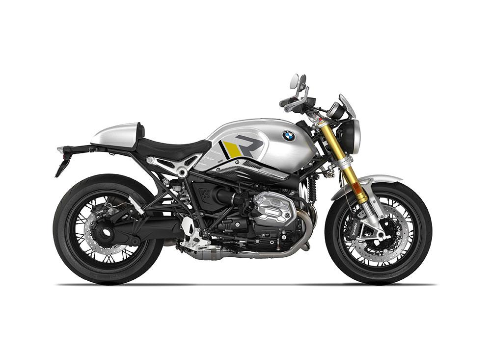 SIG 1127 04 BMW RnineT R LINE Grey Yellow Black Grey Stickers Option 719 Aluminium Right