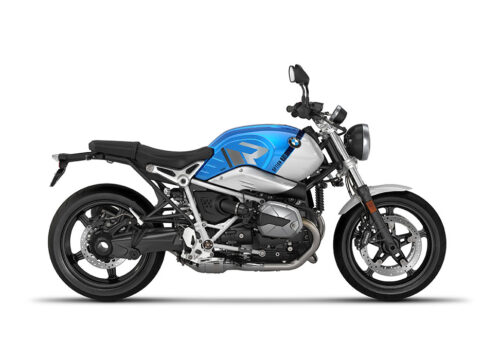 SIG 1128 02 BMW RnineT Pure R LINE Grey Variations Stickers Cosmic blue Metallic Right