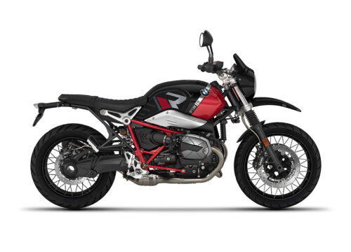 SIG 1129 01 BMW RnineT Urban GS R LINE Grey Red Stickers Option 719 Black Storm Metaqllic Racing Red Right