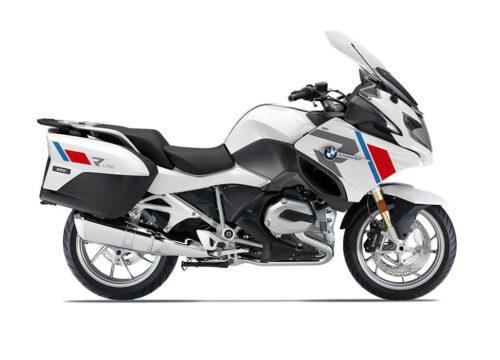 SIG 1152 01 BMW R1200RT R LINE Grey Red Blue Stickers ALPINE WHITE right