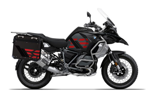 SIG 1168 BMW ALU Panniers GS Line Red Stickers 1