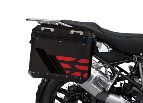 SIG 1168 BMW ALU Panniers GS Line Red Stickers 2 1