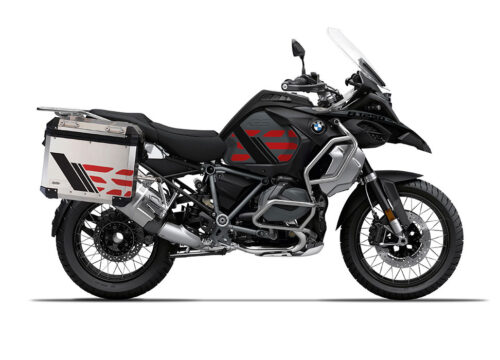SIG 1168 BMW ALU Panniers GS Line Red Stickers 3