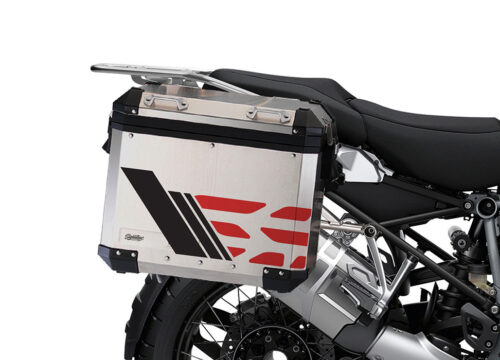 SIG 1168 BMW ALU Panniers GS Line Red Stickers 4 1