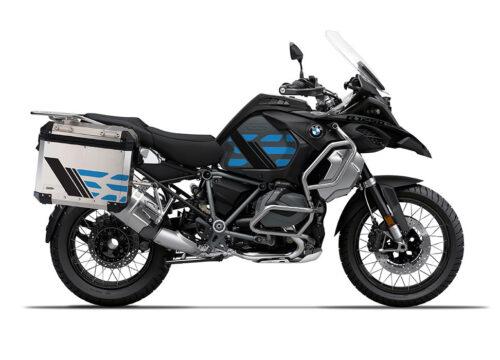SIG 1169 BMW ALU Panniers GS Line Cobalt Blue Stickers 3